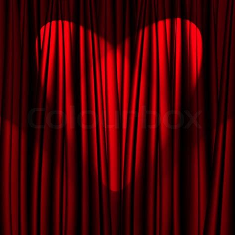 heart curtains heart valentine s day red theater curtain with a light