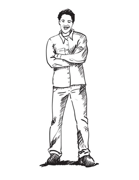 Drawing Of A Standing Up by How To Draw A Person Standing Armed Crossed Sketchbook