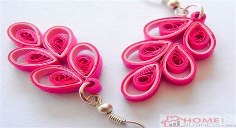 How To Make Easy Paper Earrings At Home - paper jewelry small home business idea