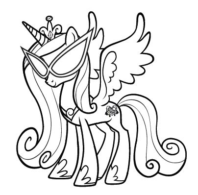 princess kayden coloring pages my little pony princess cadence coloring pages
