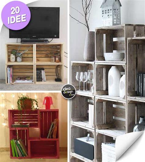 mobili con cassette di legno le cassette di legno per arredare casa 20 idee creative