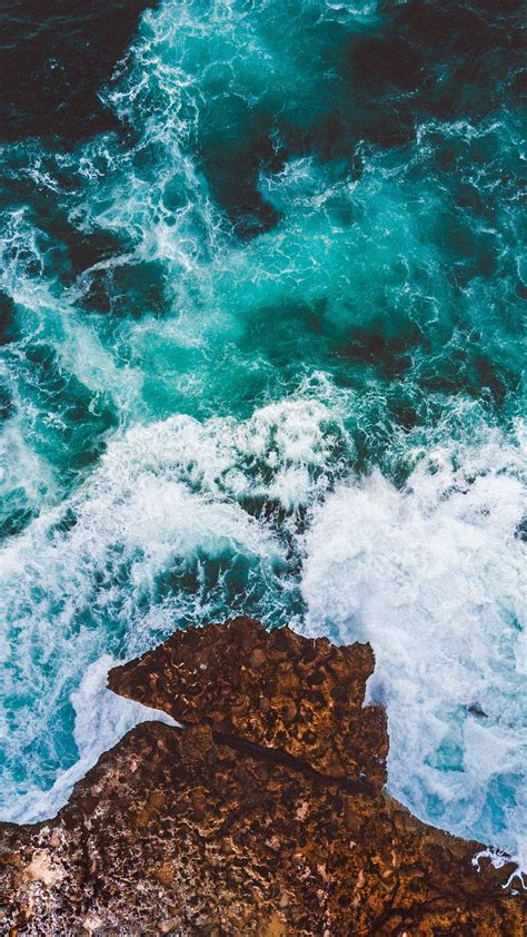 ocean cliff drone view  wallpapers hd wallpapers id