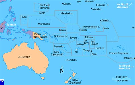 map of oceania clickable map of oceania