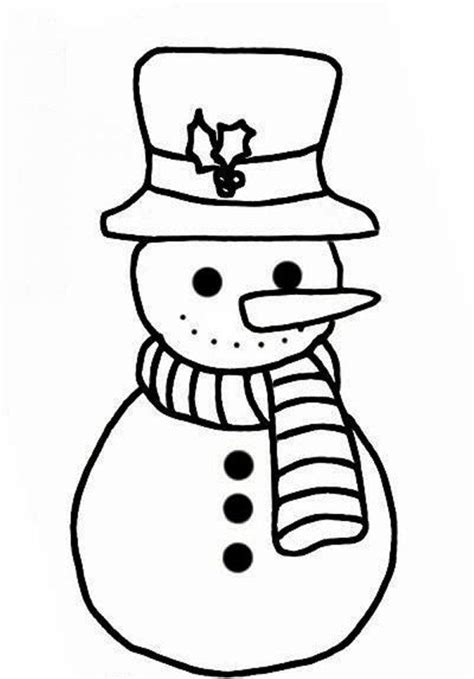easy snowman coloring pages snowman colouring pages free snowman kid coloring pages