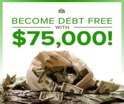 Pay Off My Debt Sweepstakes - how to become debt free with a 75 000 prize pch blog