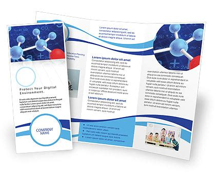Molecular Skeleton Brochure Template Design And Layout Download Now 02833 Poweredtemplate Com Science Brochure Template