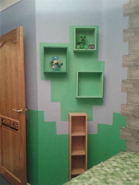 Minecraft Bedroom Shelves Tree Shelf Minecraft And Shelves On