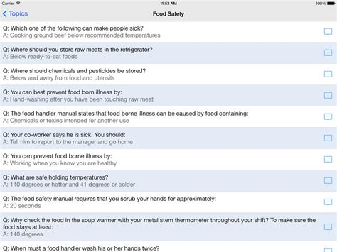 food safety manager answers