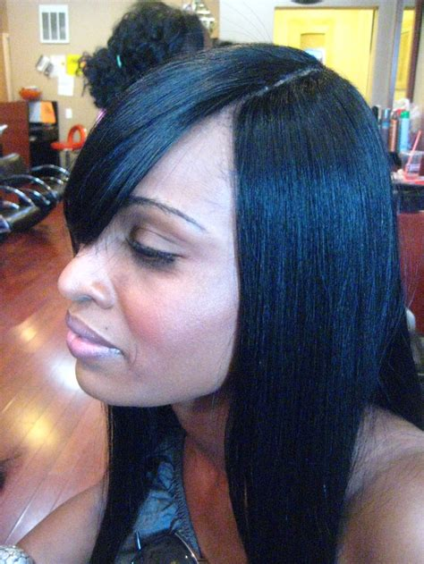 invisible part sew  weave hairstyles beautiful hairstyles