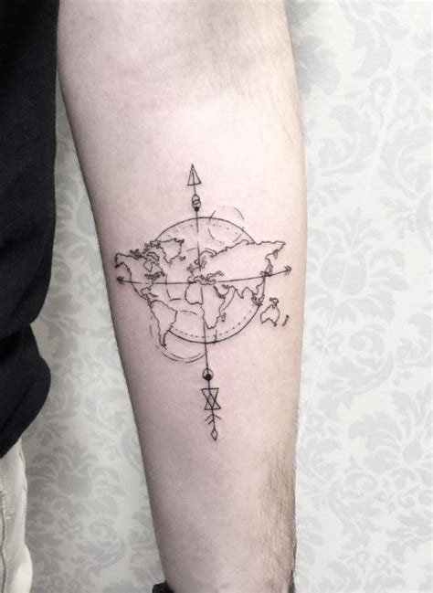 small world tattoo world map tattoos map tattoos