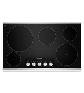 Kitchenaid Electric Cooktop Downdraft 36 Inch 5 Element Electric Cooktop With Even Heat