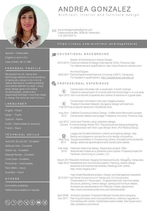 cv template for architects clippedonissuu from andrea gonzalez architect cv