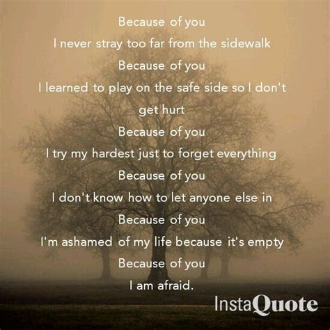 because of you kelly clarkson because of you by kelly clarkson lyrics pinterest