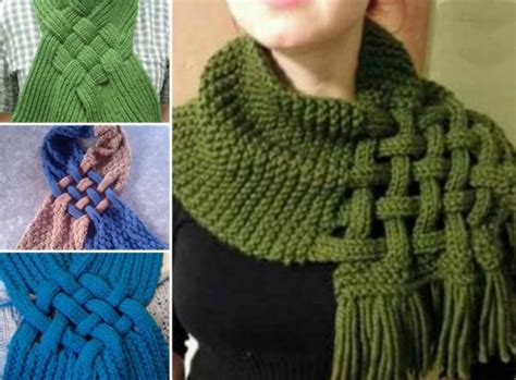 knit and knot celtic knot loop scarf pattern for knitters