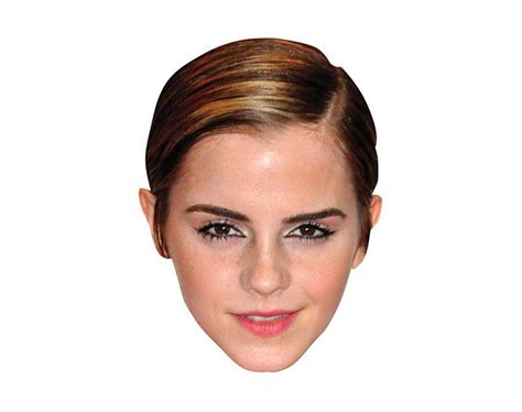 emma watson mask emma watson vip celebrity cardboard cutout face mask