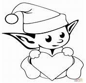 Dibujo De Duende Bonito Navidad Para Colorear Dibujos