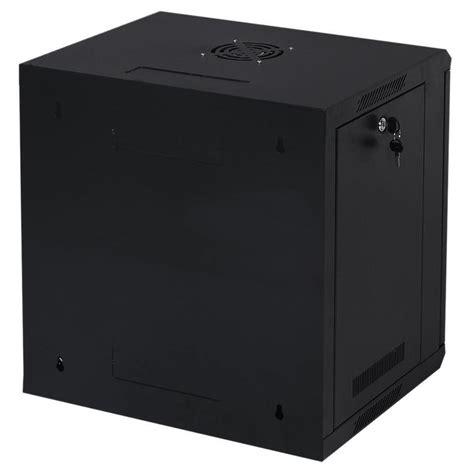 wall mount rack enclosure server cabinet 2x 9u wall mount it network server data cabinet enclosure