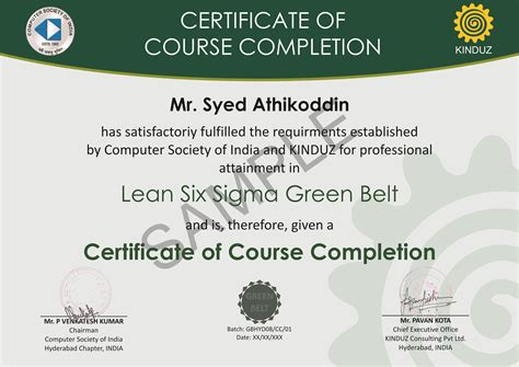 green belt certificate template six sigma black belt certificate template gallery