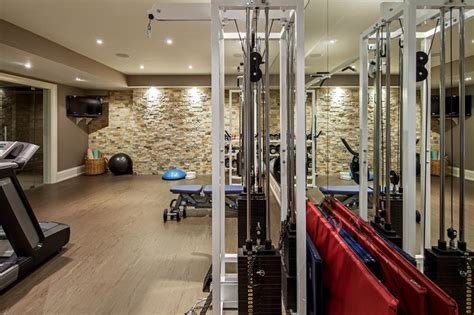 home gym studio design transitional toronto home transitional home gym