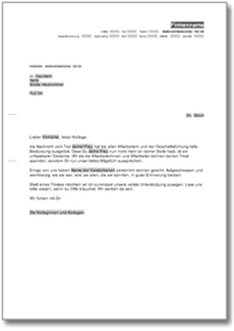 Musterbriefe Absage Bewerbung Kondolenzschreiben De Musterbrief