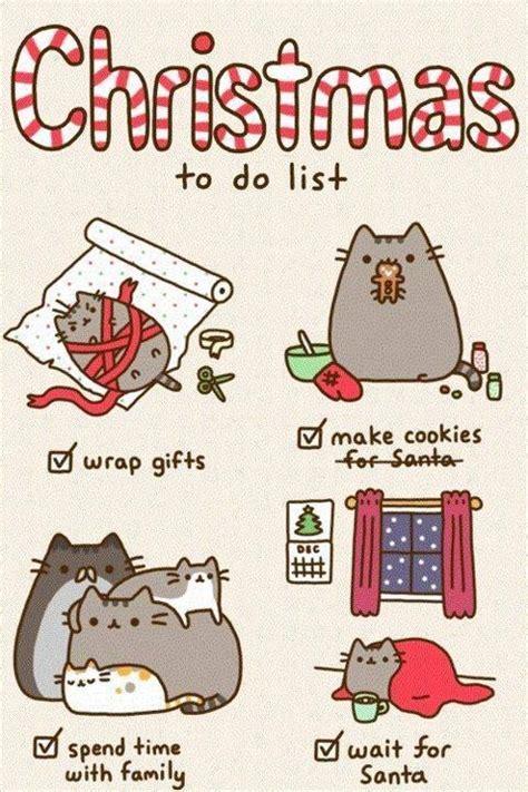 pusheen cat christmas to do list christmas to do list by pusheen pusheen the cat photo