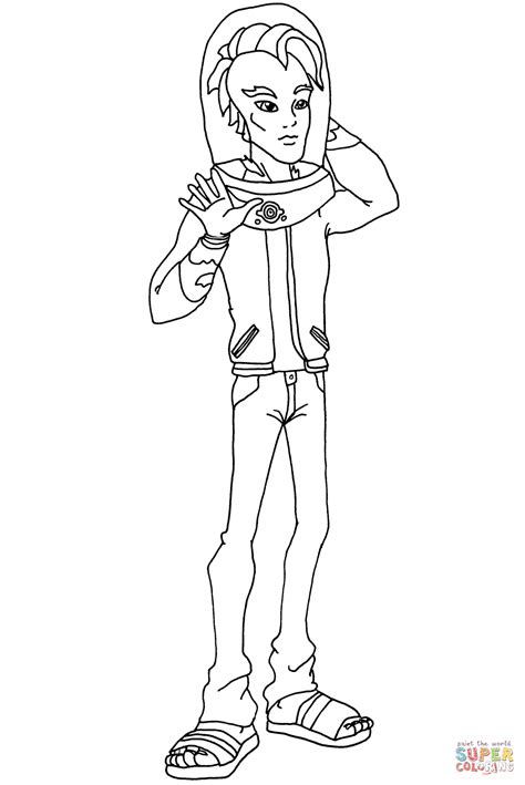 monster high coloring pages gil monster high gil webber coloring page free printable