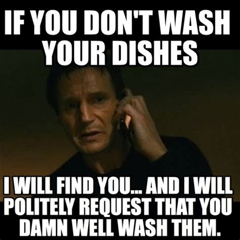 Washing Dishes Meme - image gallery dishes meme