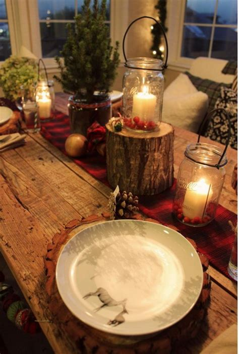 rustic style decor rustic christmas table ideas rustic