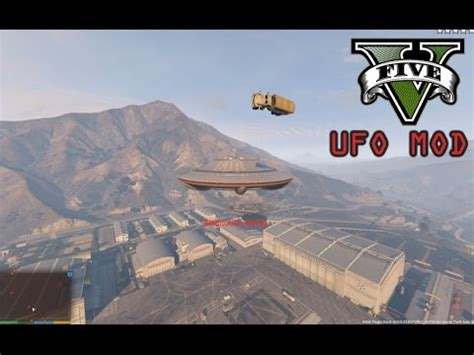 mod gta 5 ufo gta v pc ufo mod destroying the army base gta 5 mods