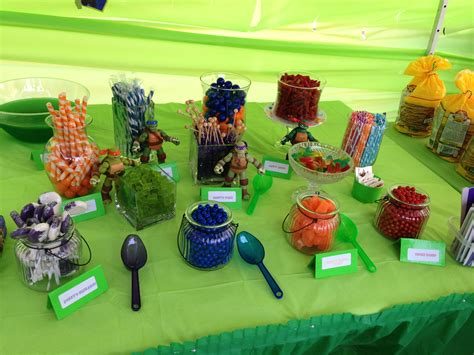 ninja turtle party candy bar success party ideas