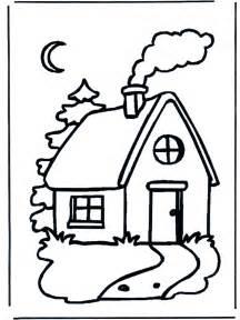 maison dans la nuit coloriages maisons