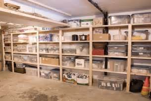 Garage Shelving Plywood Simple Plywood Shelving For Basement Storage Phil