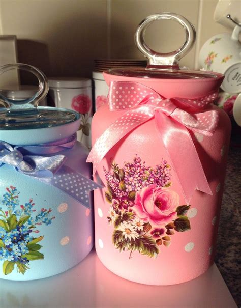 Decoupage On Glass Jars - my decoupage jars boyama decoupage