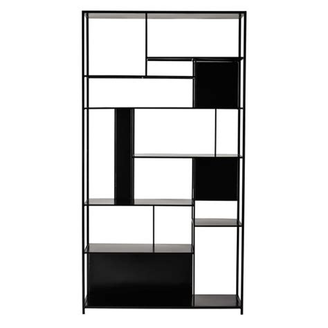 Black Metal Shelf Unit by Metal Shelf Unit In Black W 107cm Simply Maisons Du Monde