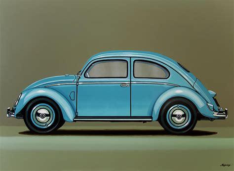 volkswagen painting volkswagen beetle 1955 painting painting by paul meijering