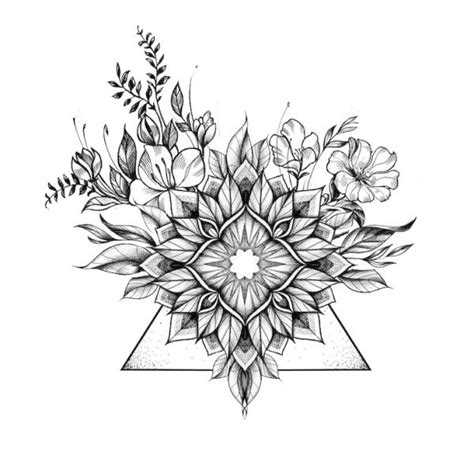 geometric tattoo floral geometric tattoo