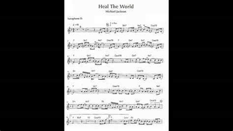 testo world heal the world sax alto eb playback michael jackson