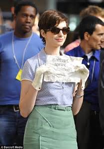 film one day online hair today gone tomorrow anne hathaway chops off her