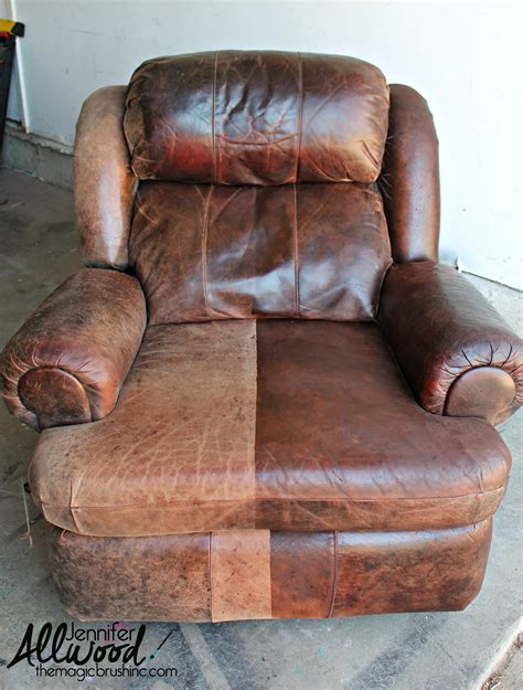 how to fix worn out leather couch leather paint
