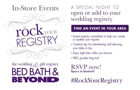 bed bath and beyond registry rock your registry rock your registry bed bath beyond