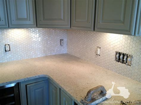 hexagon tile kitchen backsplash hexagon tile popular for backsplash studio design