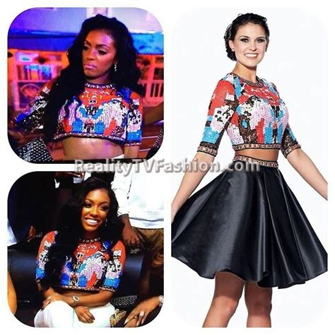 porsha williams atlanta housewives wardrobe porshawilliams multicolored sequin crop top rhoa best