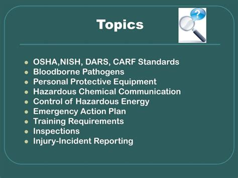 Mba Seminar Topics Ppt by Ppt Osha The Essentials Of Workplace Safety Powerpoint