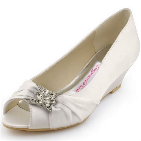 new design wp1403 white peep toe rhinestone satin