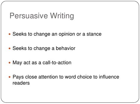 Call To In A Persuasive Essay by Persuasive Writing I