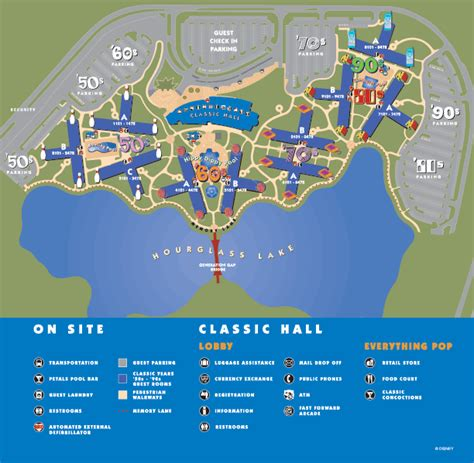 pop century resort map disney magic maps of walt disney world