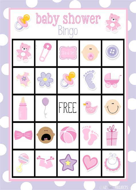 bingo template free baby shower bingo cards