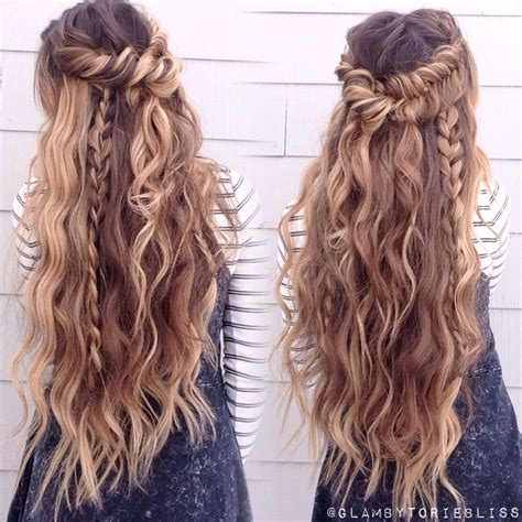 boho hairstyles boho mix of textured braids beachy waves