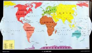 Map with countries labeled and continents beginners world map zoom