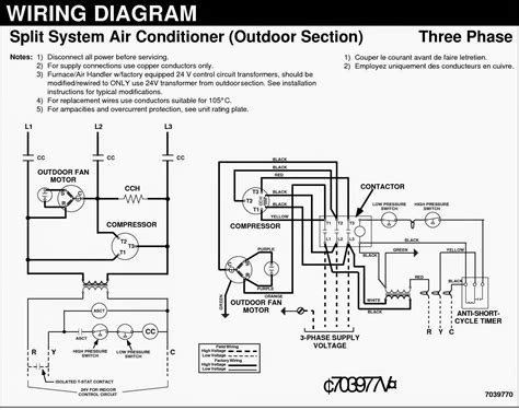 wiring diagram 1 phase ac split unit get free image